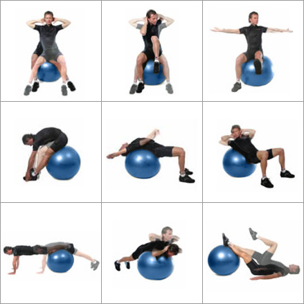 Maxafe Exercise And Accessories Swiss Ball Ab Workout